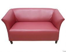 Nelson 2 Seater Settee in Faux Red